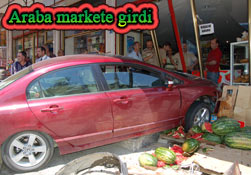 Pazar'da, taksi markete girdi!