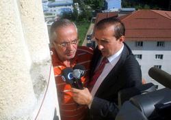 Minareden basın açıklaması