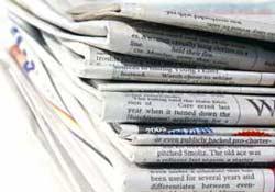 Gazetelerin birinci sayfaları