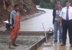 Anzer Grup Yolu beton kaplanıyor