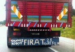 Yeni kamyon arkası yazıları