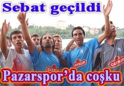 Pazarspor Sebat'ı 2-1'le geçti