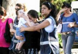 Çocuğuyla gözaltına alındı