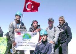 Kaçkar zirvesinde İstiklal Marşı