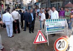 Trabzon'da doğalgaz sevinci