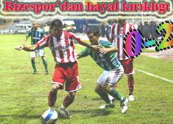 Rizespor evinde 2-0 mağlup!