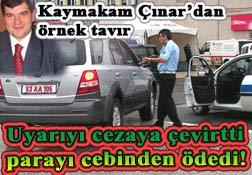 Kaymakam Çınar'dan örnek tavır