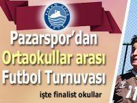 Pazarspor'dan ortaokullar arası futbol turnuvası