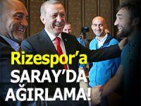 Cumhurbaşkanı Erdoğan, Rizespor'u sarayda ağırladı