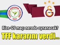 GS'nin Rize maçını İstanbul'da oynama isteği karara bağlandı