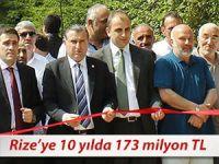 RİZE'YE 10 YILDA 173 MİLYON TL KÖYDES YATIRIMI