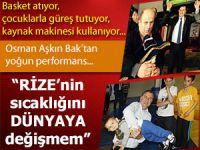 Osman Aşkın Bak'a Rize'de sıcak ilgi