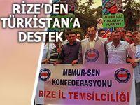 RİZE'DEN DOĞU TÜRKİSTAN'A DESTEK