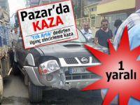 Pazar'da 'yok artık' dedirtecek zincirleme trafik kazası