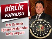 Rize Osmanlı Eğitim Ocakları'ndan teröre karşı birlik çağrısı