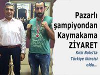 Şampiyon Kick Bokscu Kaymakam Aslan'ı ziyaret etti