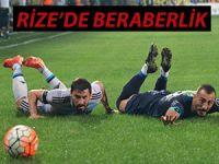 Rize evinde ağırladığı Fenerbahçe ile 1-1 berabere kaldı