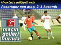 PAZARSPOR AFYON CUP'TA SON MAÇI GALİBİYETLE KAPATTI
