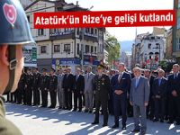 Atatürk'ün Rize'ye gelişi kutlandı