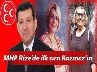 MHP RİZE'DE İLK SIRA YİNE KAZMAZ'IN