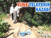 Rize'de yine ilkel teleferik kazası: 1 ölü
