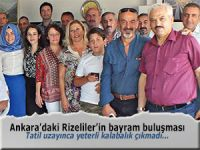 Ankara'daki Rizeliler'in bayramlaşması sönük geçti