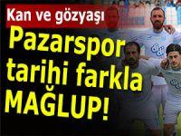 Pazarspor bu mağlubiyetle ligin dibine demir attı!