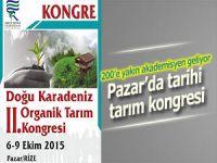 D. Karadeniz Organik Tarım Kongresi Pazar'da başlıyor