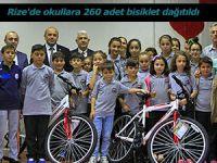 Rize'de okullara 260 adet bisiklet dağıtıldı