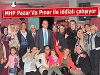 MHP Adayı Pınar, Pazar'da esnaf ziyaretlerinde bulundu