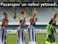 PAZARSPOR'UN NEFESİ PUANA YETMEDİ!