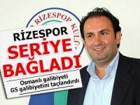 Rizespor, Osmanlı galibiyetiyle GS galibiyetini taçlandırdı