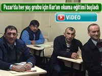 Pazar'da her yaş grubu için Kur'an okuma eğitimi başladı