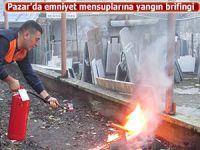 Pazar'da Emniyet Personeline yangın brifingi