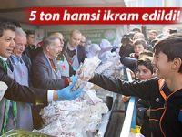 HAMSİ VE HORON FESTİVALİ'NDE 5 TON HAMSİ İKRAM EDİLDİ
