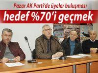 AK Parti Pazar'da teşkilat üyeleriyle buluşuyor