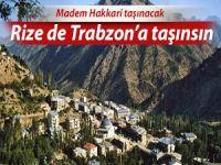 Hakkari taşınacaksa Rize de Trabzon'a taşınsın isteği!