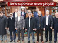 Rize'de projelerin son durumu görüşüldü