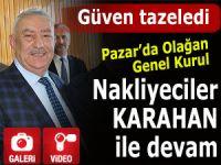 Nakliyeciler Pazar'da Karahan ile devam etti