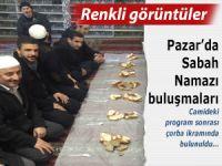 Pazar Merkez Camii'nde renkli görüntüler