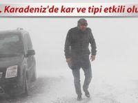 Doğu Karadeniz'de kış etkisini gösterdi