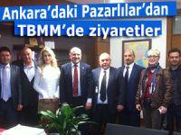 Ankara'daki Pazarlılar'dan TBMM'de Bak ve Kandemir'e ziyaret