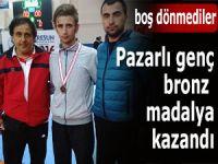 Pazarlı genç sporcu bronz madalya kazandı