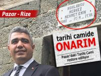 Tarihi Pazar Hasköy Camii restore ediliyor