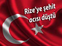 RİZE'YE ŞEHİT ACISI DÜŞTÜ....