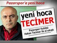 Pazarspor'un yeni hocası Hakan Tecimer oldu