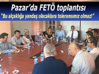 Pazar'da FETÖ toplantısı: Kimseye taviz yok!