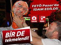 Pazar'da F. Gülen maketi idam edildi!