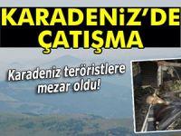Karadeniz teröristlere mezar oldu!