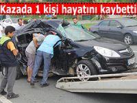 Rize'deki trafik kazasında 1 kişi hayatını kaybetti